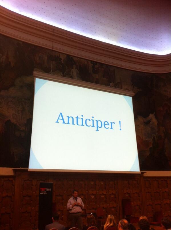 #TEDxNice  anticiper et éviter l'évitable http://twitter.com/CorinneMeynier/status/391472359615762432/photo/1