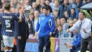 Harry Redknapp hit in the head with the match ball just before Millwall equalise v QPR in 92nd minute