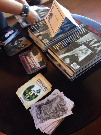 Some of the free things at the #DeathSalonLA table today :) http://t.co/qq0TjgSNk7