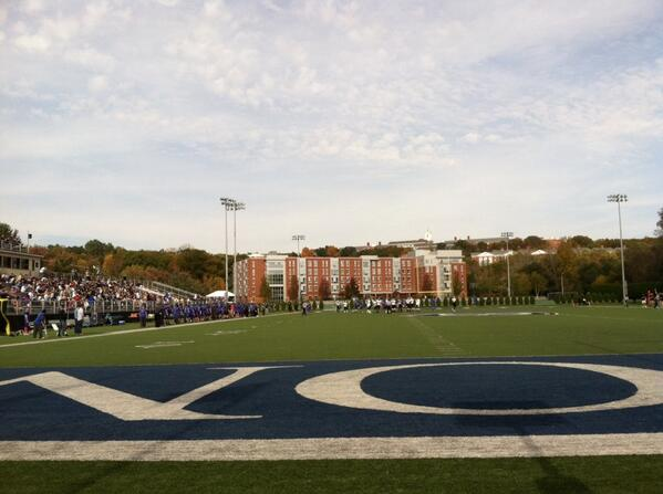 Homecoming game starting now! Come on down and support the @BentleyFalcons http://twitter.com/bentleyu/status/391626360567115776/photo/1