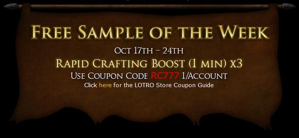 Lotro store sales 3/10/17 – 3/16/17 | lotro players.
