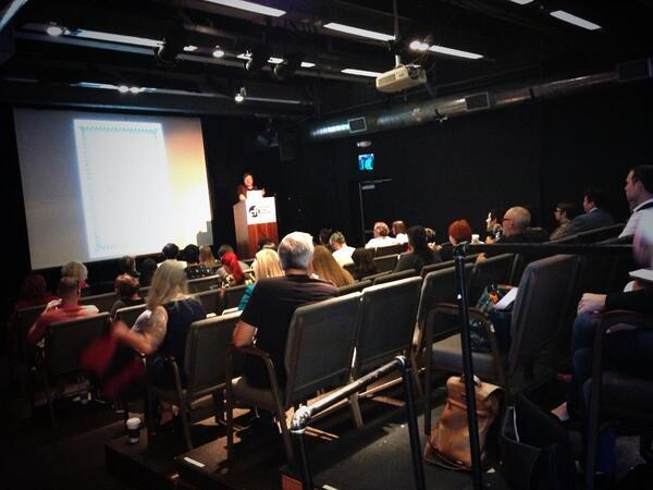 Colin Dickey takes the stage (podium?) to speak about @morbidanatomy  #DeathSalonLA http://t.co/LAhT2abwpU