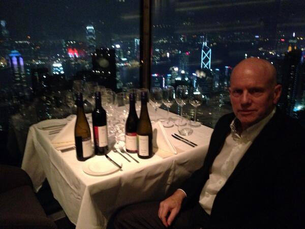 Coolest table. Pearl on the Peak HK. Hopefully the wines will match the food, and the view! http://t.co/JBh8H96czH