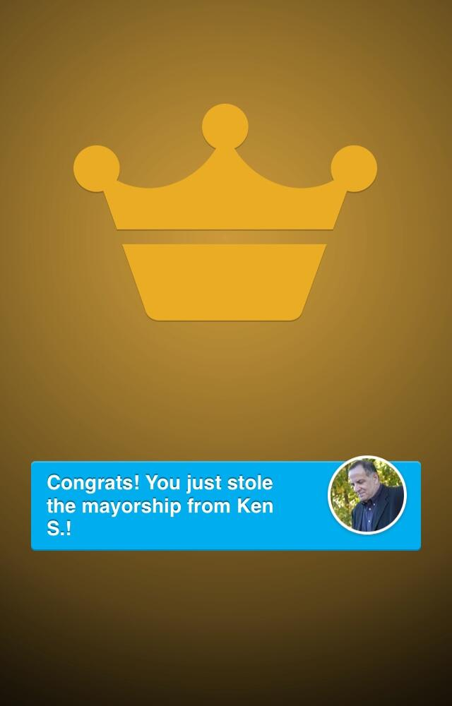 Twitter / srdill: Oh yeah! Just stole the mayorship ...