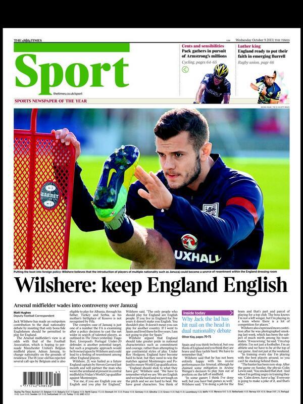 BWFf324IEAA 5pD Jack Wilshere doesnt think Adnan Januzaj should play for England