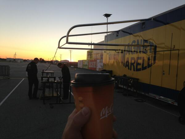 Good morning, I got my Go-Go juice and a race car life is good! Little chilly in Indy feels like go-fast weather! http://twitter.com/MattHagan_FC/status/387909886782087168/photo/1
