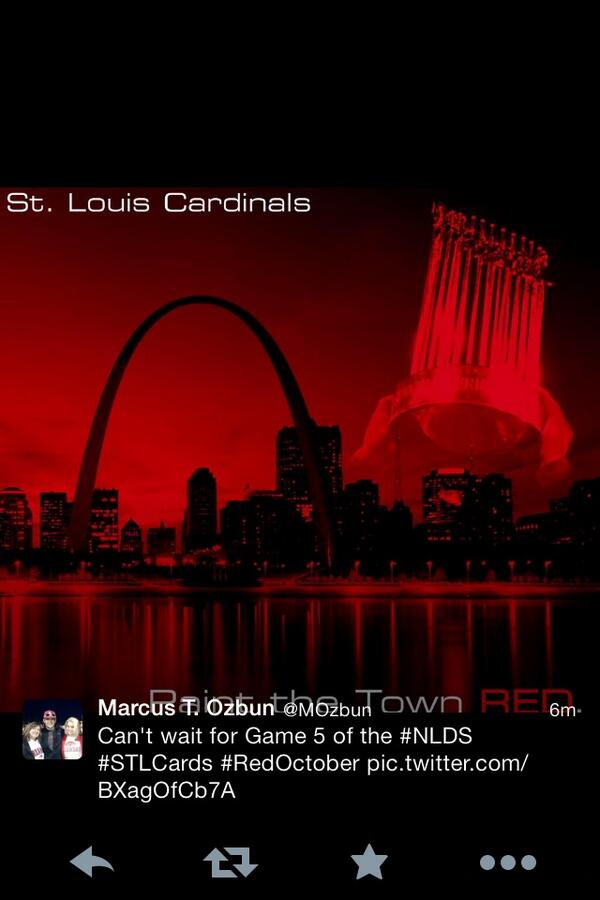Can't wait for game 5. #stlcards #12in13 #PostCards #RedOctober http://twitter.com/blakerisner/status/387958090005745665/photo/1
