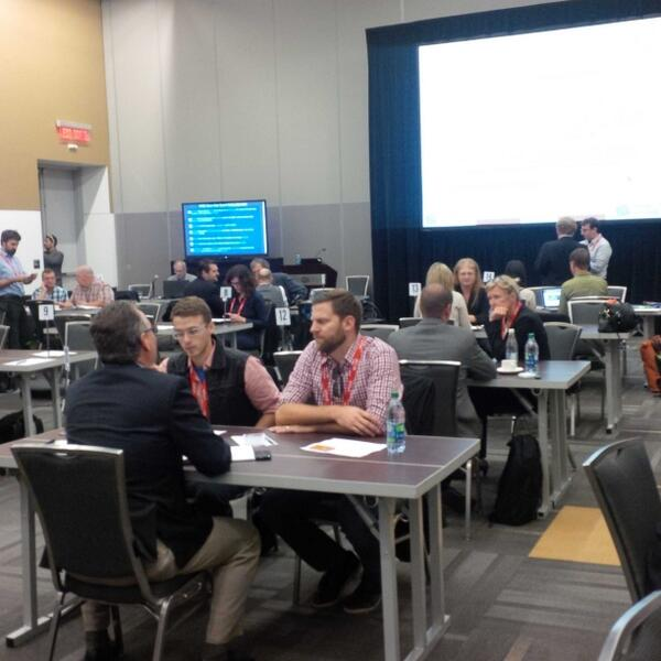#OpenData enthusiasts and curators of data are getting ready for the bell to ring for the first session, #GTECdata http://twitter.com/louisaINK/status/387985621048123392/photo/1
