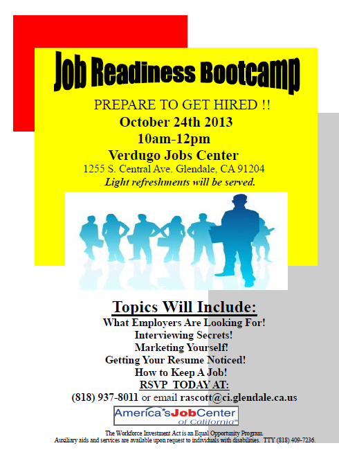 Job Readiness Bootcamp Learn How To Land Your Next At The Verdugo Jobs Center MyGlendale Interviewsecretspictwitter ZVKHwQdnDQ