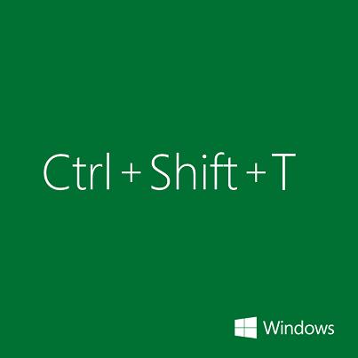一度閉じたブラウザのタブは、[Ctrl + Shift + T] のショートカットを使えば復活させることができます。もし誤ってタブを閉じてしまっても大丈夫です。ぜひお試しください。