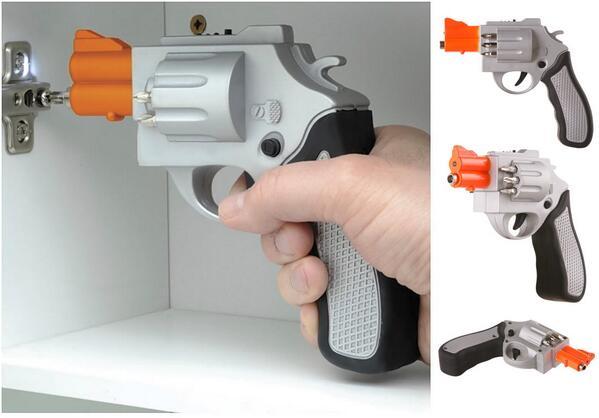 拳銃型(リボルバー)の電動ドリル