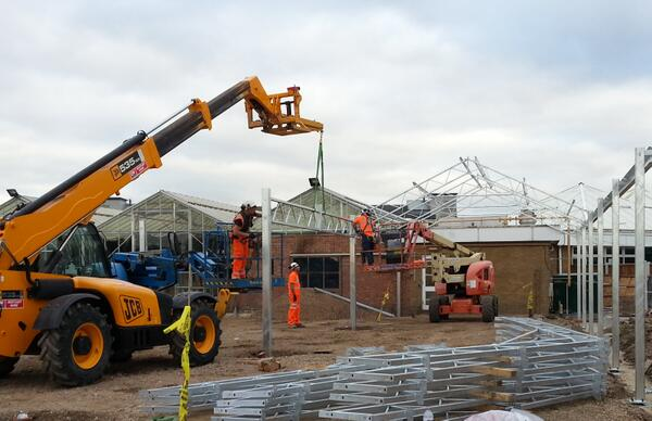 Cambridgehok On Twitter Steelwork Erection Started On Site At Summerhill Garden Centre Yesterday Can T Believe How Quickly It Goes Up Http T Co Oitz8c2t9u