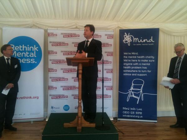 Nick Clegg at mental health event