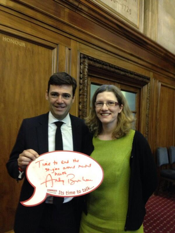 Andy Burnham signs mental health pledge