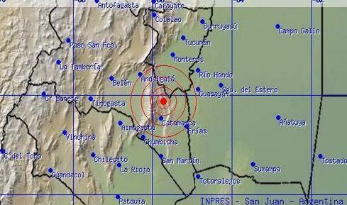 [AMPLIAMOS] El #sismo de Catamarca fue de 4.6 grados, con epicentro en Andalgalá. Se sintió en otras provincias FOTO http://twitter.com/C5N/status/388492116554305536/photo/1