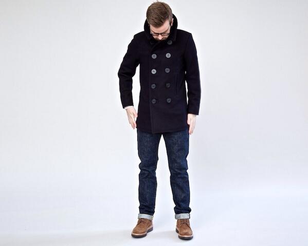Real Pea Coat   Down Coat