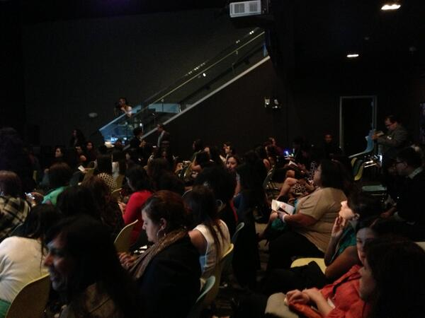 The LA Audience is telling us to get ready for the virtual show #latinasthinkbig http://twitter.com/CynthiaKSeymour/status/388832503173087232/photo/1