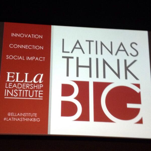 Ending this fabulous week w/amazing women. That's right, we've arrived at the #LatinasThinkBig Event! http://twitter.com/LatinaGeeks/status/388833969166221312/photo/1