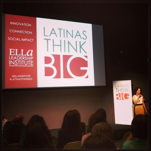 It's starting! @Eliana_Murillo welcoming us to #latinasthinkbig http://twitter.com/yvonneinla/status/388834947982577665/photo/1