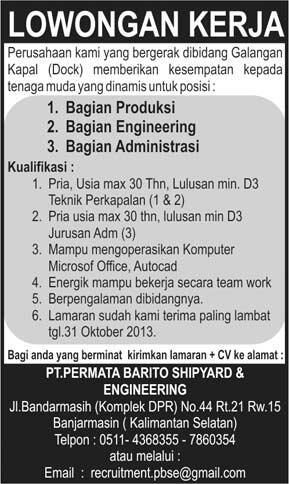 Iklan Lowongan Pekerjaan Engineering