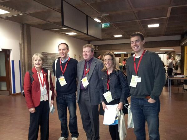 The Cork branch of the IMTA, who travelled up to attend #mathsfest in UCD today. @mathsfest #mathsweek http://twitter.com/SylviaLeatham/status/388948792441319424/photo/1