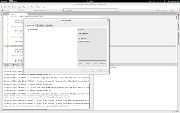Mono-addins on GTK#