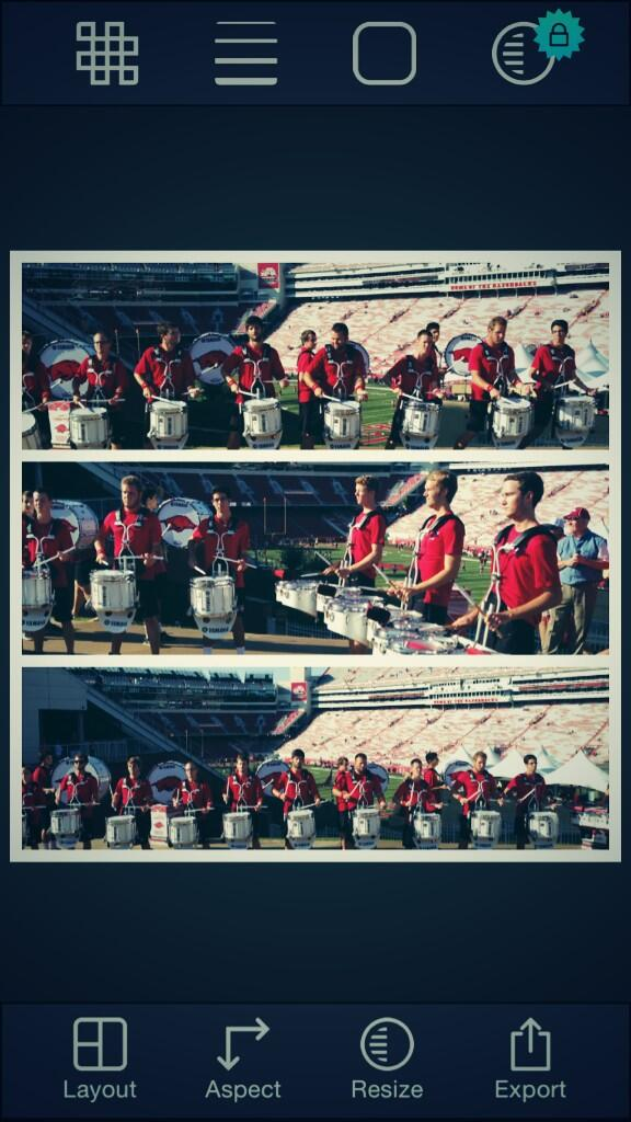 RT @UADrumline1: Drumline lot in