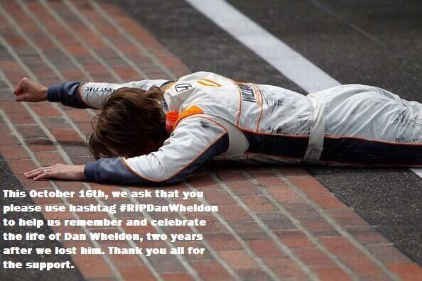 Thanks to everyone who spread the word yesterday and today. If you haven't already, please do #RIPDanWheldon xx http://t.co/RoCA9oQV46