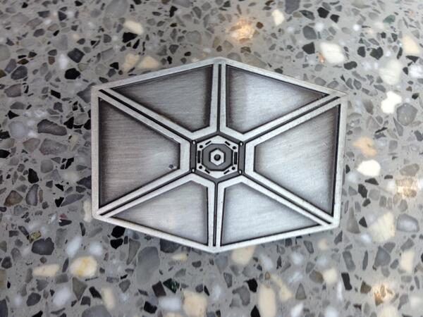 """The pin they gave out at the Rebels panel. The back says """"Sienar Fleet Systems"""" #StarWarsRebels #NYCC http://twitter.com/avgoins/status/389118020968538112/photo/1"""