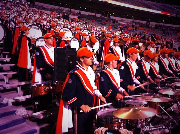 Great hang w/ @UVaDrumline . Thi