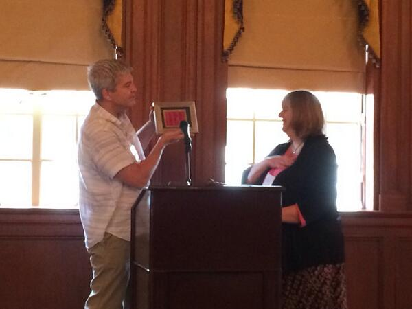 At the presidential transition: Mary Larson presented a well deserved gift by Stephen Sloan #OHA2013 http://twitter.com/oralhistreview/status/389396198953476096/photo/1