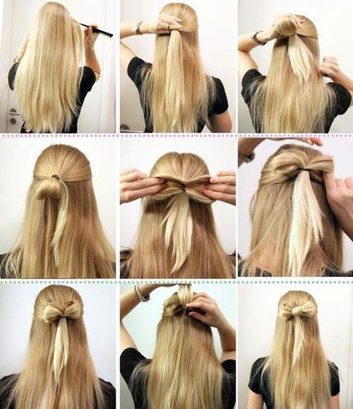 "bonitos peinados on twitter: ""pasos para hacerse un hermoso lazo"