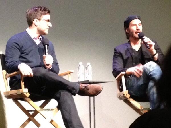 Keanu Reeves at Apple Soho talk: http://t.co/gpXYi1odHE