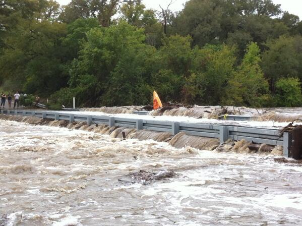 @RalphBarrera @statesman  Someone tried to paddle Onion Creek. Made it Old San Antonio Rd. He's OK but the kayak? http://twitter.com/AusTXLarry/status/389495029649006592/photo/1