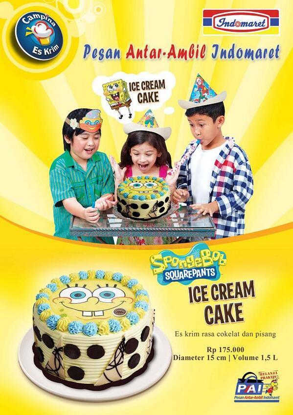 Ice Cream Cake Spongebob Campina
