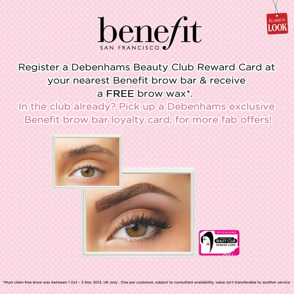 Benefit Cosmetics Uk On Twitter Register A Debenhams Beauty Card