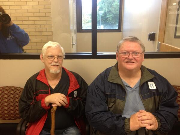 Rick and Bill are on deck. They have been together almost 23 years. #time4marriage #lgbt #avlnews http://twitter.com/CSElive/status/390098466992431104/photo/1