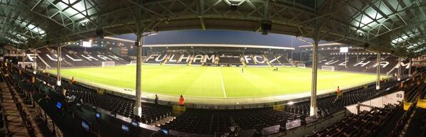 PANORAMA: The scene here at Craven Cottage. One of the great old school English grounds.... #canMNT http://twitter.com/CanadaSoccerEN/status/390172964773449729/photo/1