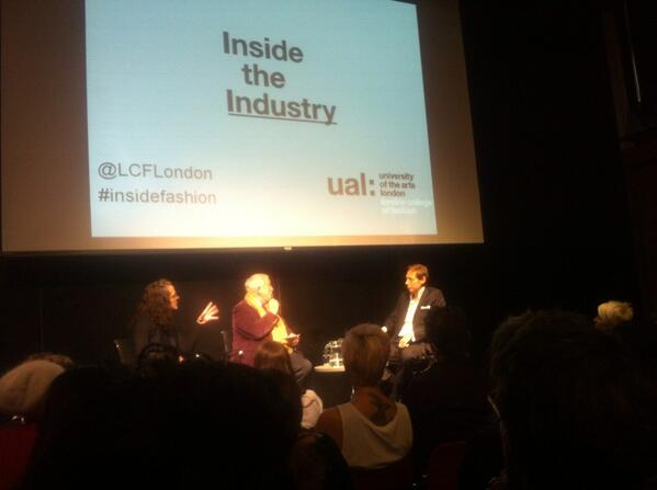 Rock show vibes at @LCFLondon tonight. Colin McDowell and Nick Knight at #insidefashion @SHOWstudio @SUARTS http://twitter.com/EllenMcIntyre/status/390176509211987968/photo/1