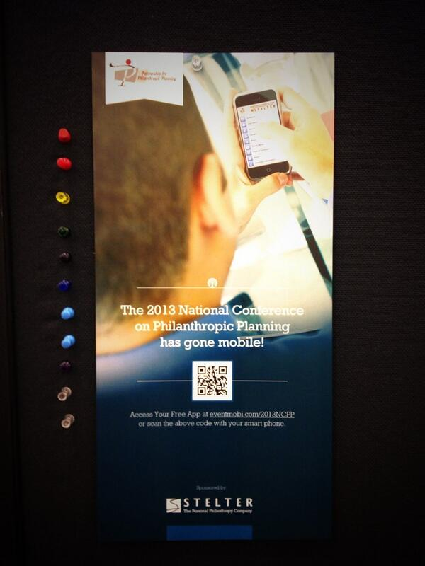 Did you know there's a #2013NCPP mobile app? Look for the QR code to scan | Thanks to @StelterCompany for sponsoring http://twitter.com/PPPphilanthropy/status/390196769205678080/photo/1