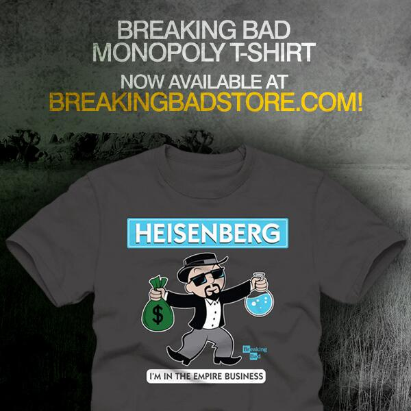 We're giving away 10 #BreakingBad Monopoly T-Shirt -- RT for a chance to win! http://BreakingBadStore.com. #BBgiveaway
