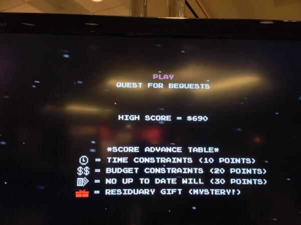 #2013NCPP come visit booth 24 and play our Quest for Bequests game! http://twitter.com/CapacityMktg/status/390242876015144960/photo/1