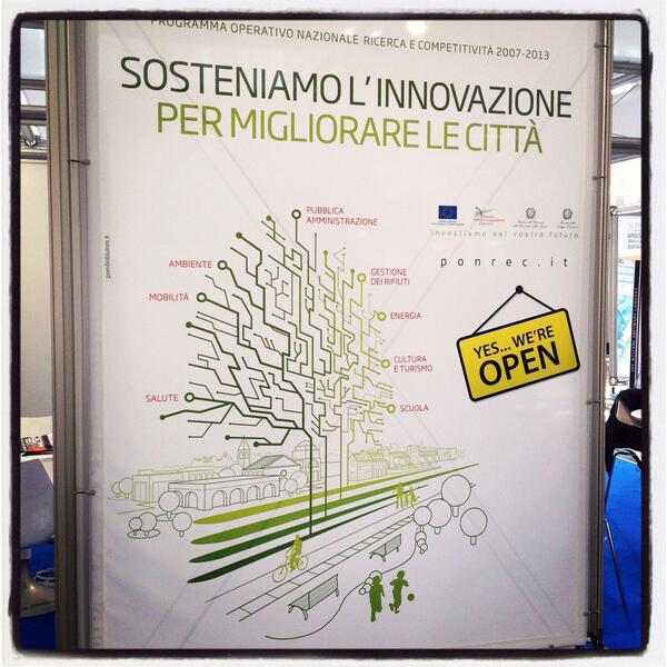 @PONREC presenti! Smart City exhibition Bologna http://twitter.com/gennide/status/390397643823652864/photo/1