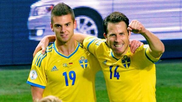 Celebrating yesterdays goal V Germany. Sweden into the playoffs. #Goal #Sweden #Worldcup http://twitter.com/AKacaniklic/status/390382234798407681/photo/1