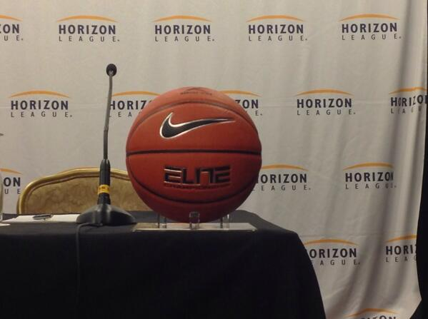 @HorizonLeague #HLMBB media day underway in Chicago! These @Nike basketballs will be bouncing soon! #FightOakland http://twitter.com/OUGrizzlies/status/390513821561131008/photo/1