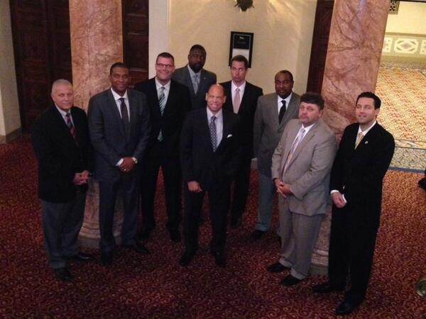 The 9 head coaches of the @HorizonLeague #HLMBB http://twitter.com/gbphoenixmbb/status/390518109872070656/photo/1
