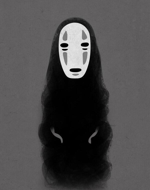 Картинки безликого из аниме