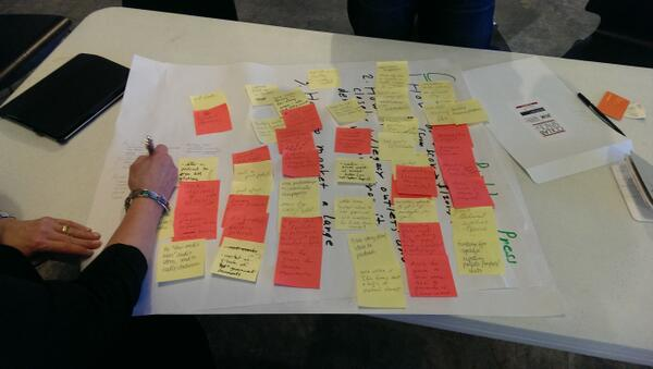 Now that's how you sticky note! #CollabATL http://twitter.com/benilfeld/status/390577651926466560/photo/1