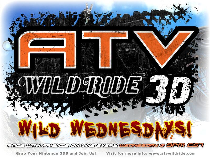ATV Wild Ride Wild Wednesdays! Racing Online Multiplayer Nintendo 3DS eShop