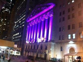 The exterior of the @NYSEEuronext tonight is decked out in purple for #SpiritDay! #prideNBCU (via @CNBC) http://twitter.com/OUTNBCUniversal/status/390645535251906560/photo/1